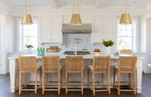 Light and airy kitchen with natural accents
