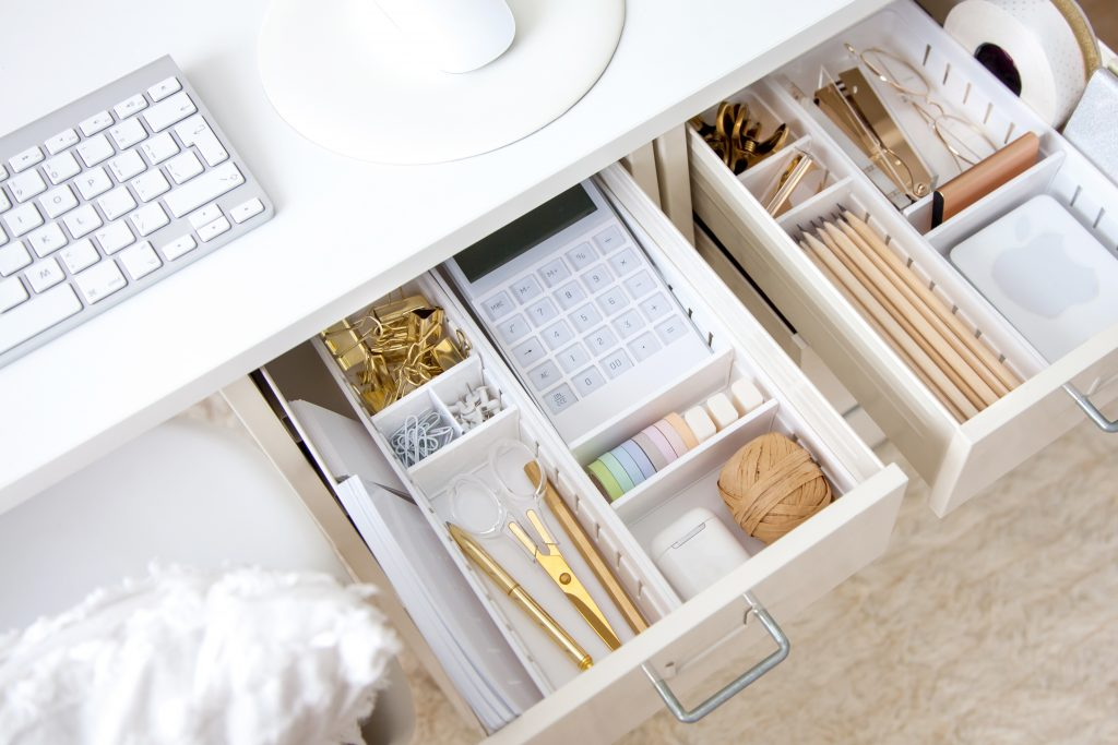 Ample storage in home office design