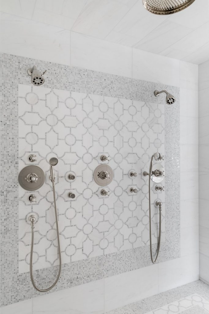 Mosaic tile shower for bathroom design ideas