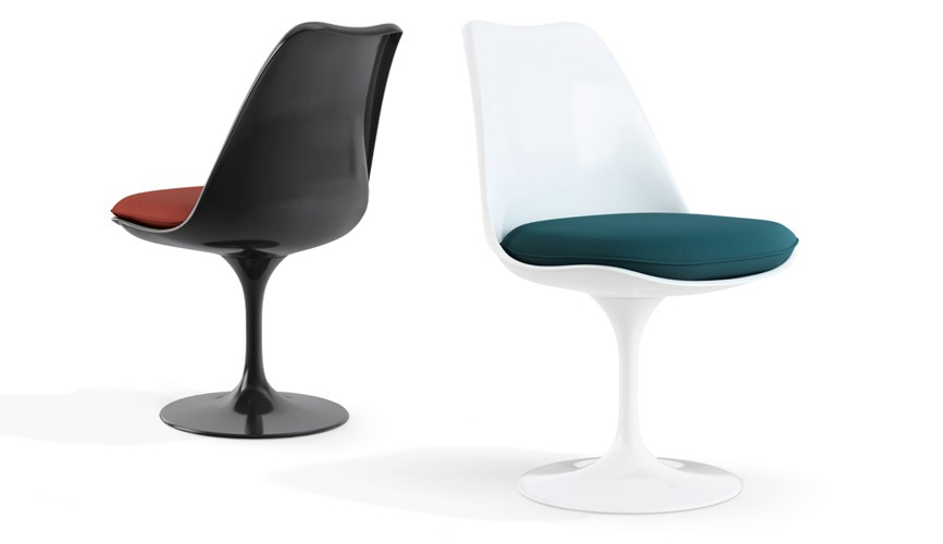 Mid-century modern tulip chairs