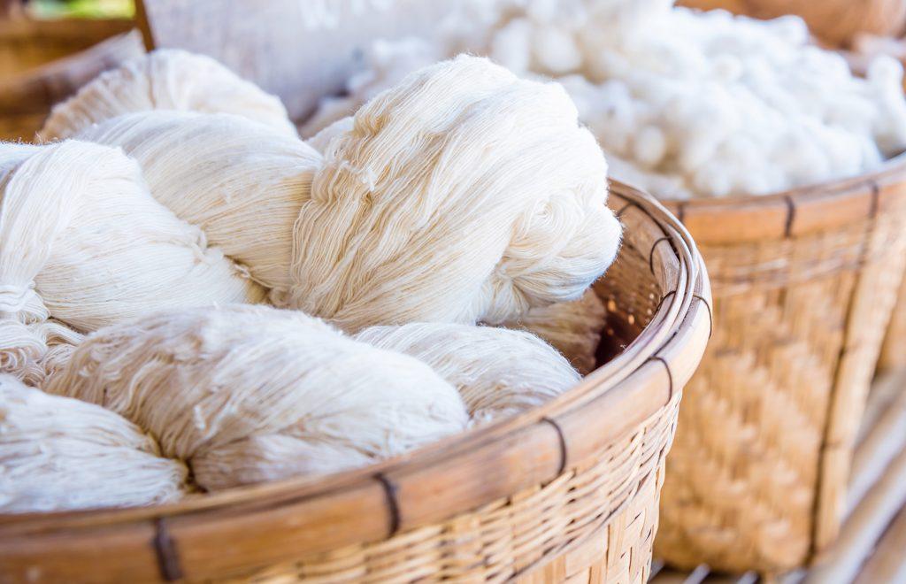 Yarn spun for natural fabric
