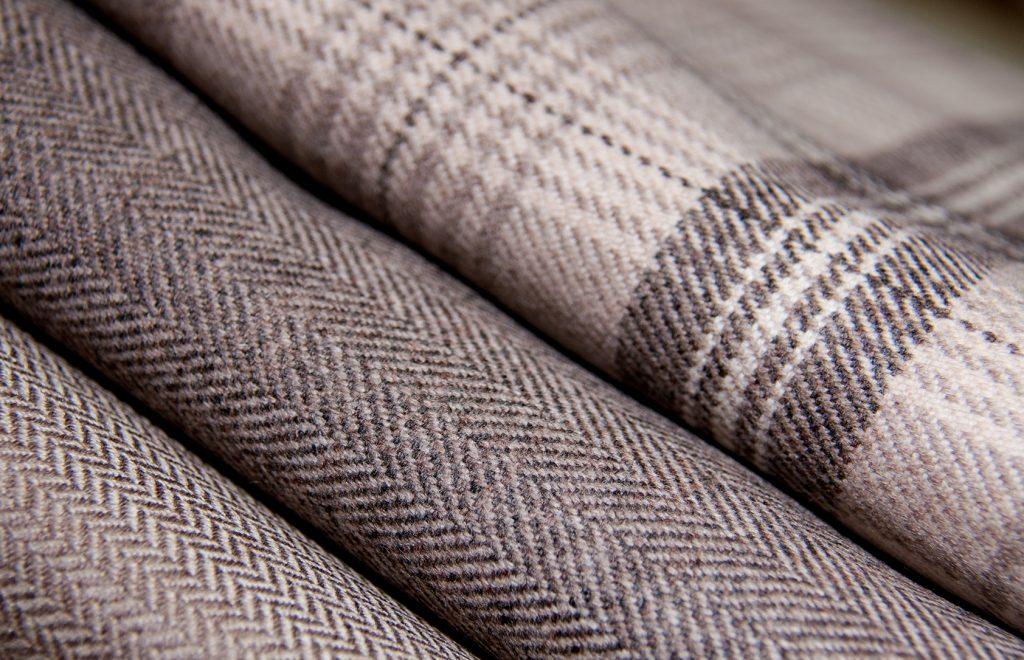 Folded wool fabric