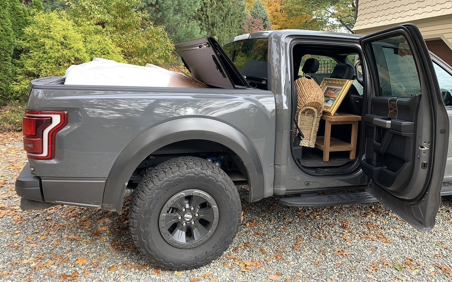 Truck packed with treasures sourced from the Brimfield Antique Show